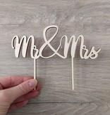 "Taartsteker ""Mr&Mrs"""