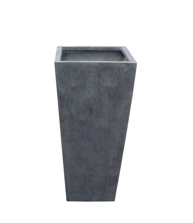 "Plantenbak Fiberclay taps ""Athos"" 24x24x47 cm Antraciet"