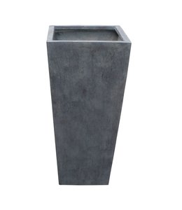"Plantenbak Fiberclay taps ""Athos"" 33x33x62 cm Antraciet"