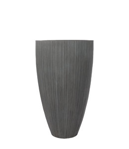 "Plantenbak Fiberclay rond ""Arezzo"" 71x71x115 cm Grijs"