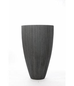 "Plantenbak Fiberclay rond ""Arezzo"" 60x60x98 cm Grijs"