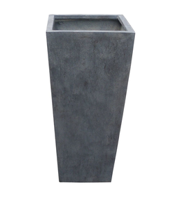 "Plantenbak Fiberclay taps ""Athos"" 48x48x105 cm Antraciet"
