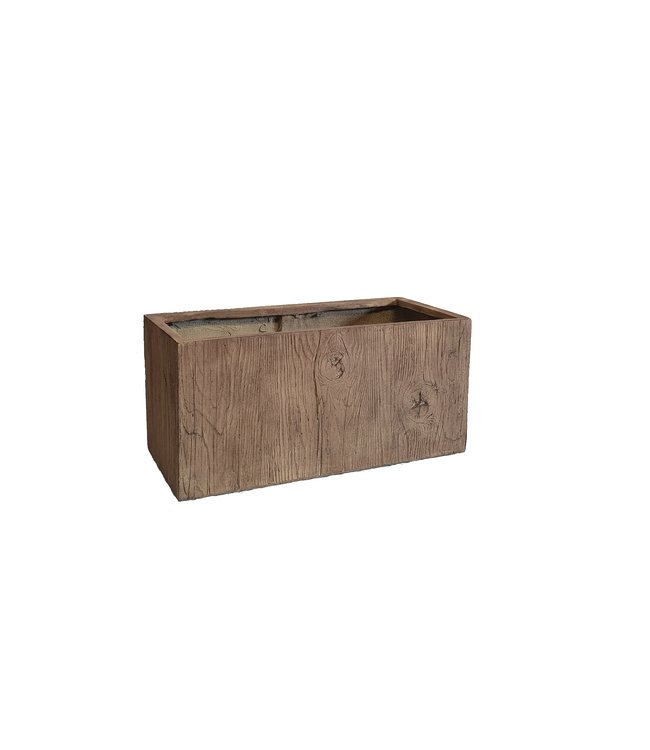 "Plantenbak Fiberclay rechthoek ""Falcon"" 79x39x39 cm Houtstructuur Light Wood"