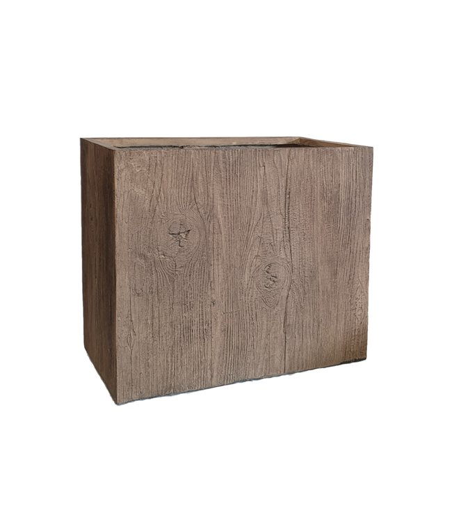 Plantenbak Fiberclay rechthoek ''Ivara'' 70x40x60 cm Houtstructuur Light Wood