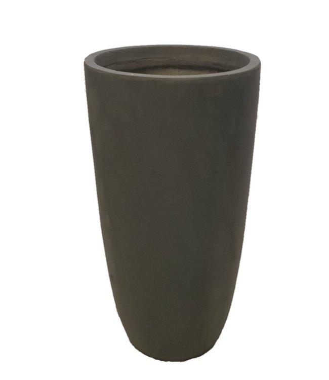 "Plantenbak Fiberclay rond ""Riviënna"" 54x54x100 cm Antraciet"