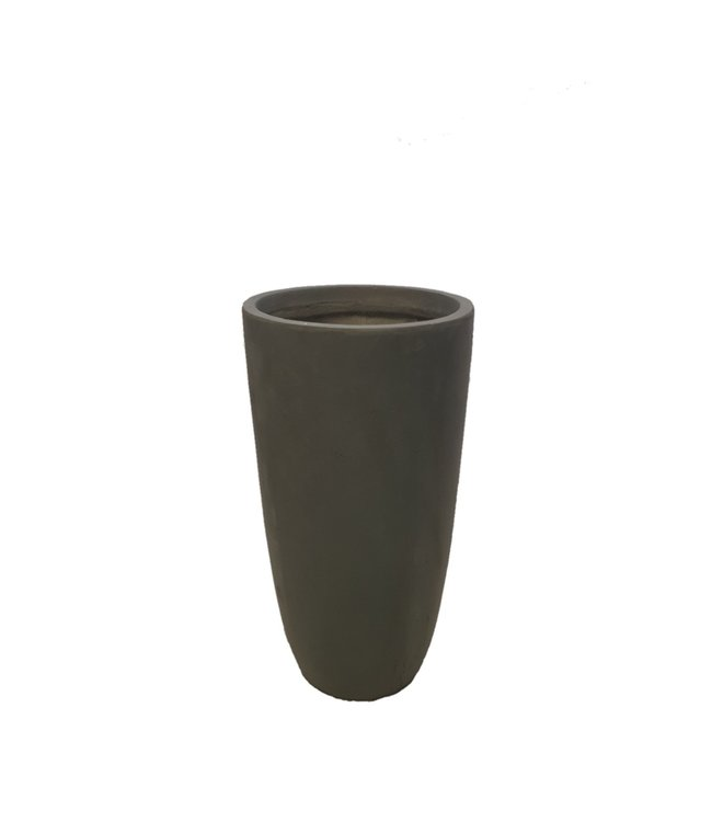 "Plantenbak Fiberclay rond ""Riviënna"" 32x32x62 cm Antraciet"