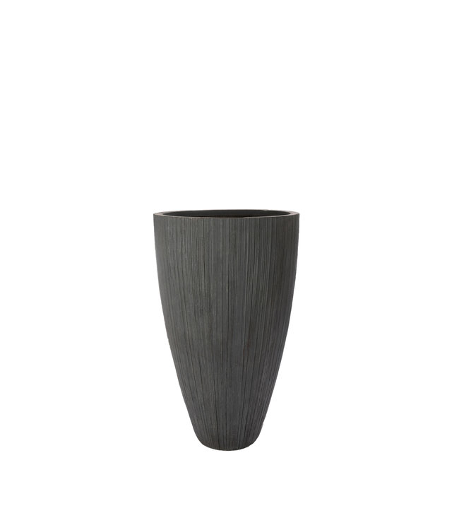 "Plantenbak Fiberclay rond ""Arezzo"" 41x41x65 cm Grijs"