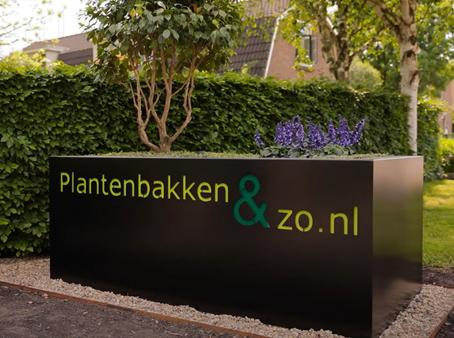 Plantenbak met logo / bedrijfslogo