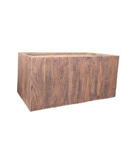 """Plantenbak Fiberclay rechthoek """"Falcon"""" 99x46x46 cm Houtstructuur Dark Wood"""