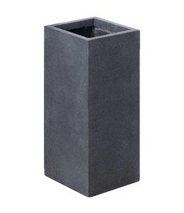 "Plantenbak Fiberclay vierkant ""Galant"" 40x40x80 cm Antraciet"