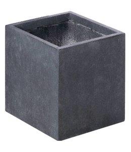 "Plantenbak Fiberclay vierkant ""Luxor"" 75x75x75 cm Antraciet"