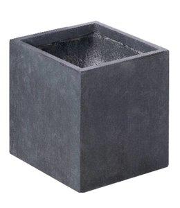 "Plantenbak Fiberclay vierkant ""Luxor"" 60x60x60 cm Antraciet"