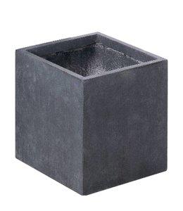 "Plantenbak Fiberclay vierkant ""Luxor"" 50x50x50 cm Antraciet"