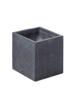 "Plantenbak Fiberclay vierkant ""Luxor"" 25x25x25 cm Antraciet"