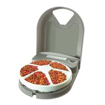 Automatische voerbak voor vijf maaltijden