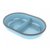 Surefeed bakje gedeeld blauw
