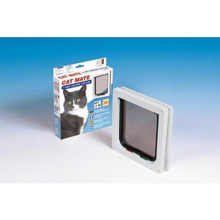 Catmate Kattenluik 4 standen voor dunne deuren wit