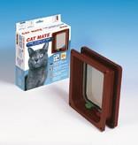Catmate Kattenluik 4 standen voor dikke deuren, panelen en muren bruin