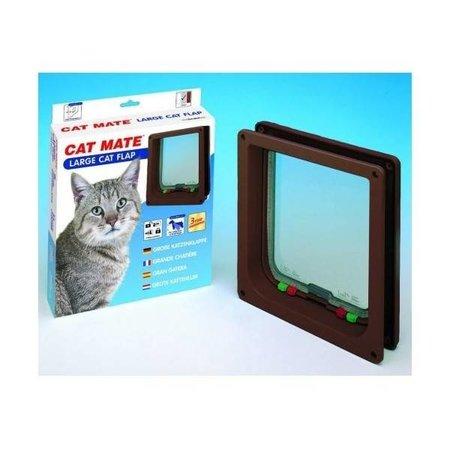 Catmate kattenluik  voor grote katten bruin