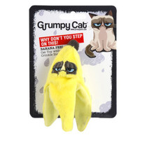 Banana Skin Grumpy Cat Toy