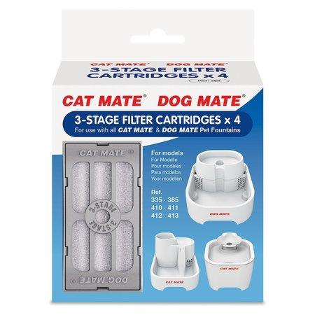 Catmate 4 x 3-Stage Filterpatronen voor Cat Mate en Dog Mate drinkfonteinen