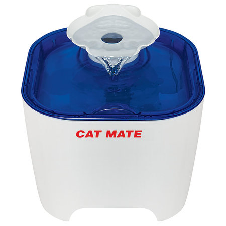 Catmate Shell Pet Fountain white and Blue 3 liter