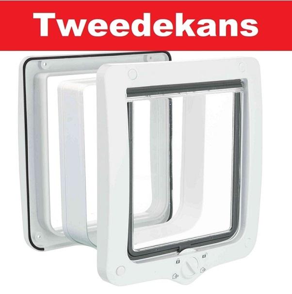 Trixie Tweedekans - Kattenluik XL met tunnel wit