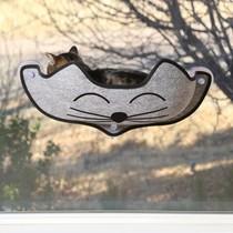 Raambed voor de kat grijs