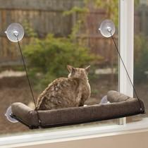 Katten mandje met ondersteuning voor raam