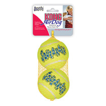 SqueakAir Balls Large 8 cm  netje 2 stuks