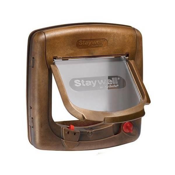 Petsafe  Staywell kattenluik deluxe magnetisch 420 bruin