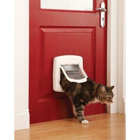 Petsafe  Staywell kattenluik deluxe magnetisch 400 wit