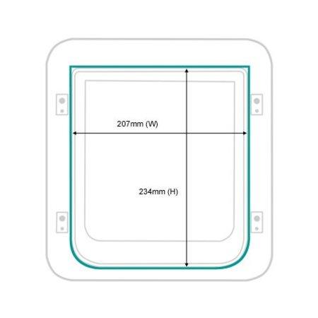 Sureflap Microchip Huisdierluik wit