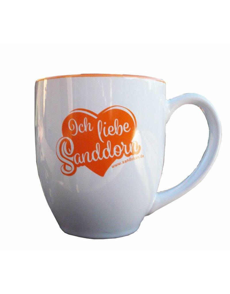 """Sandokan Sanddorn-Tasse """"Ich liebe Sanddorn"""""""