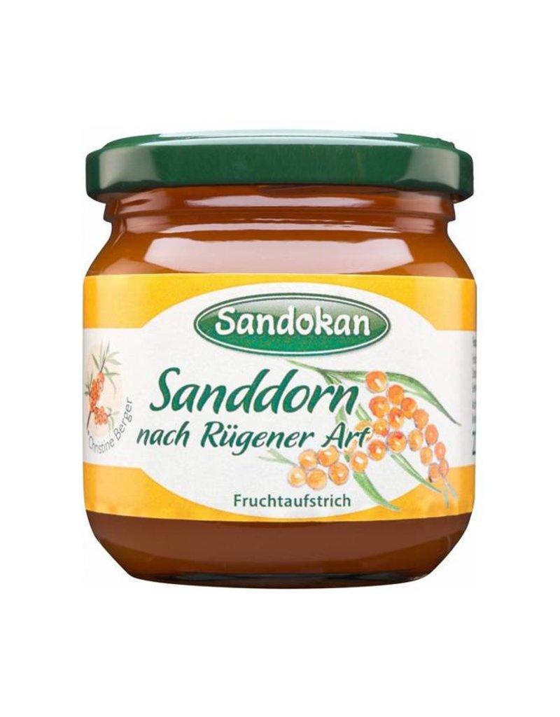 Sandokan Fruchtaufstrich Sanddorn nach Rügener Art mit Apfelsaft verfeinert 225 g
