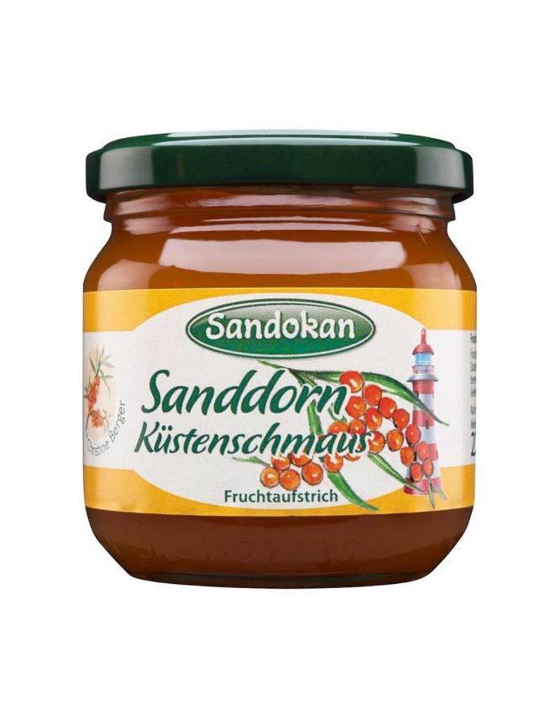 Sandokan Fruchtaufstrich Sanddorn-Küstenschmaus mit Rum 225 g