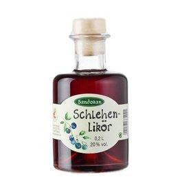 Sandokan Schlehenlikör 0,2L Apothekerflasche