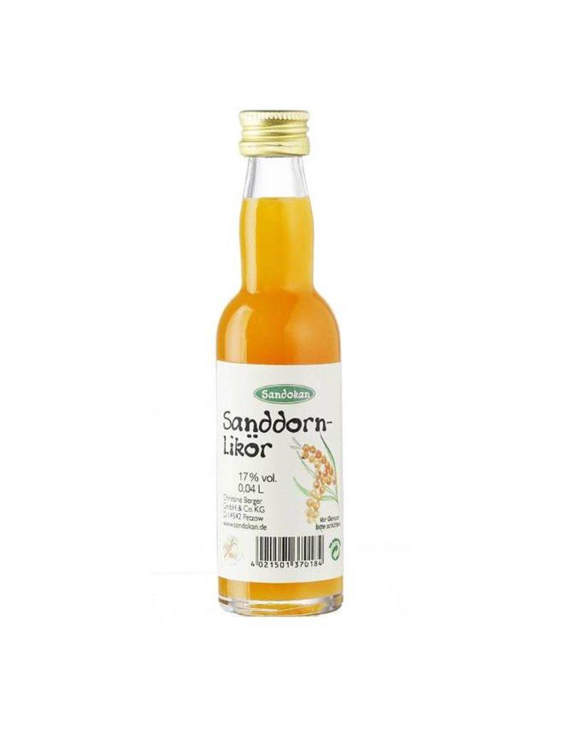 Sandokan Sanddornlikör 0,04L Kropfhalsflasche