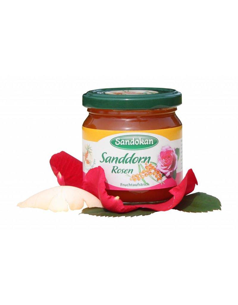 Sandokan Sanddorn Rosen Fruchtaufstrich 225 g