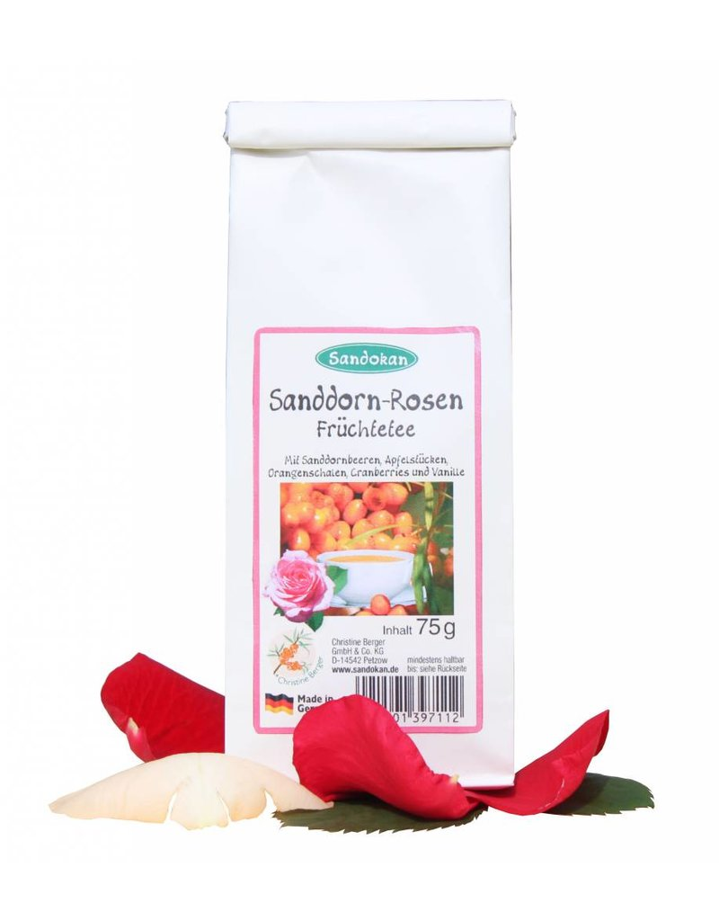 Sandokan Sanddorn-Rosen Früchtetee 75 g