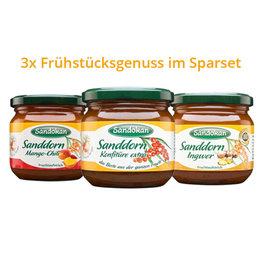 3er-Sparset Sanddorn-Konfitüre & -Fruchtaufstrich