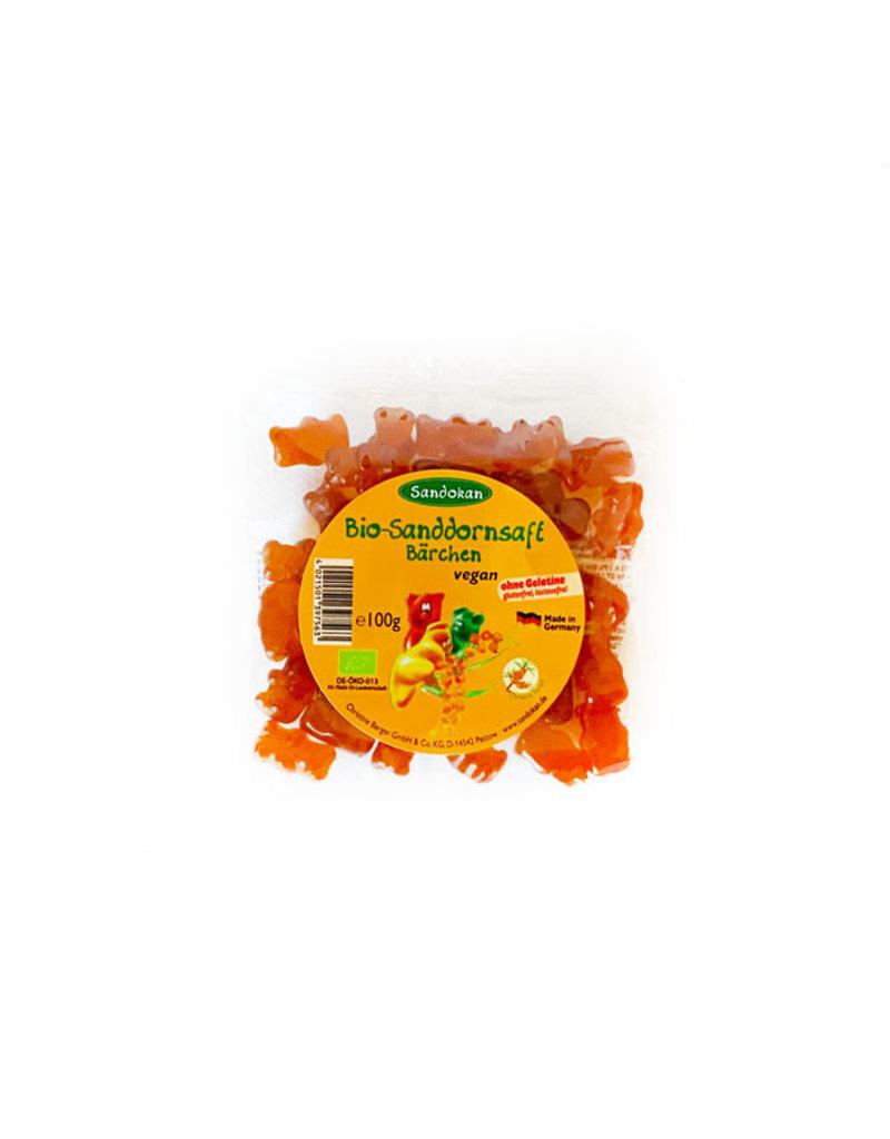 Sandokan Vegane BIO-Sanddornsaft Bärchen (Fruchtgummis) - gelantinefrei 100g