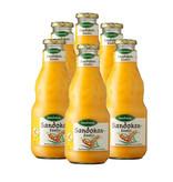 Sandokan 6 Flaschen Sanddorn-Getränk Sandokan Exotic. Mild mit Mango & Milch. 0,75L