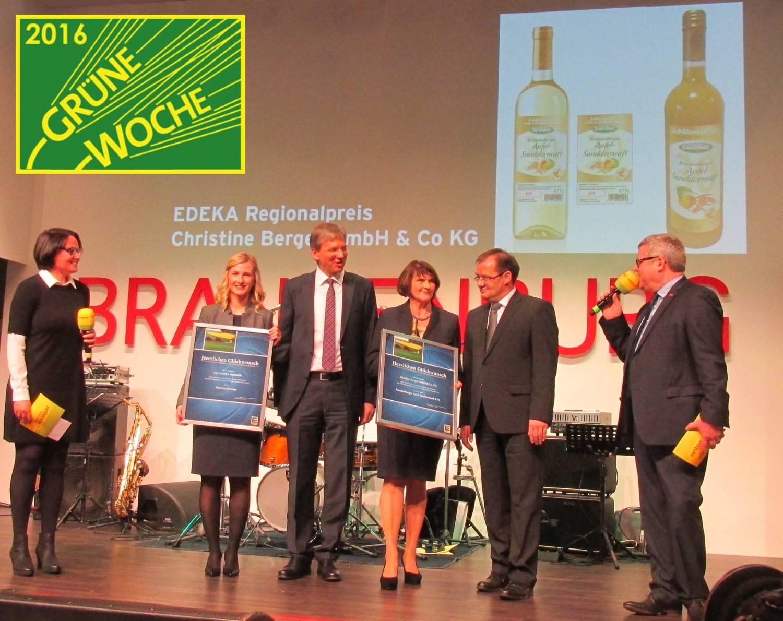 Gewinner des EDEKA-Regionalpreises auf der Grünen Woche 2016