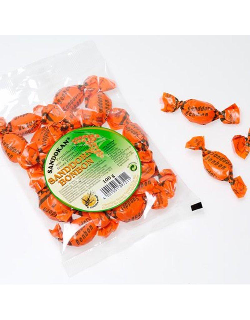 Sandokan Sanddorn-Bonbons mit Vitamin C und Fruchtfüllung 100g