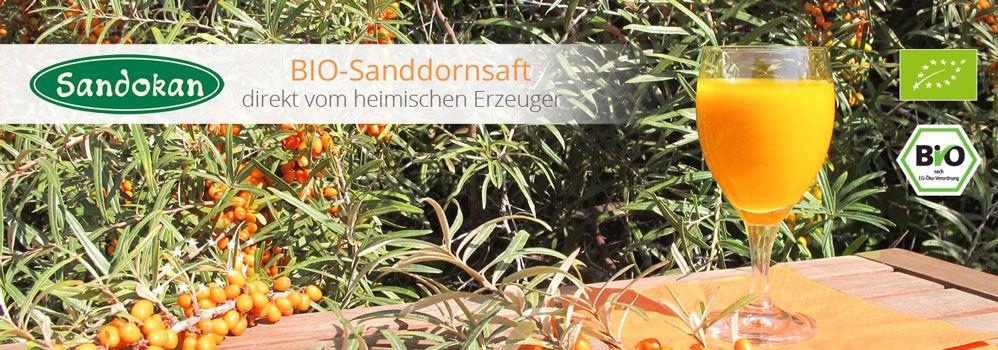 BIO-Sanddornsaft direkt vom deutschen Erzeuger