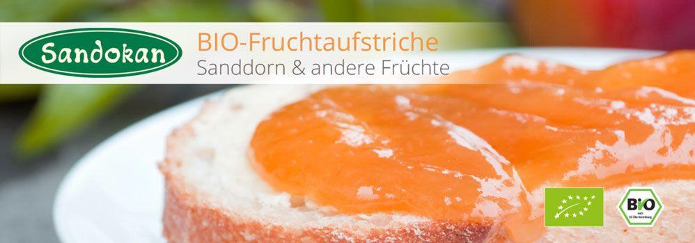 BIO-Sanddorn-Fruchtaufstriche