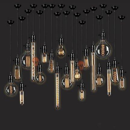 Industriële Edison Kooldraadlampen