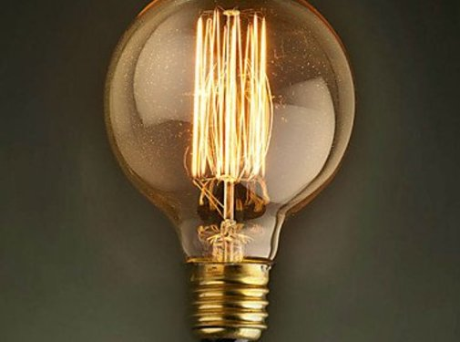 Schouten Woonidee Kooldraadlamp Globe Gold E27 40W