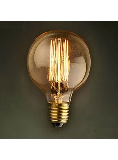 Schouten Woonidee Kooldraadlamp Globe Gold E27 40W G125